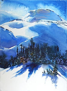 Suze Woolf watercolor painting