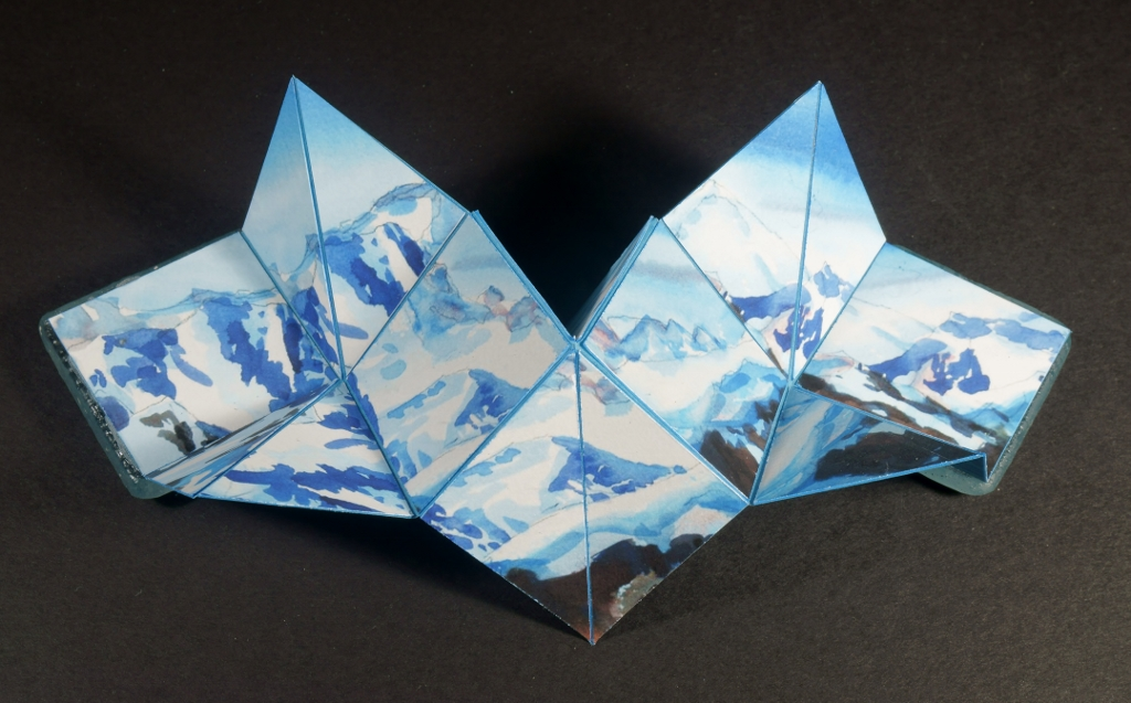 "Suze Woolf artist book ""Peaks and Valleys"""