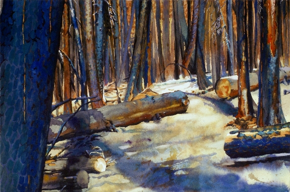 Cleared Trail is a Suze Woolf watercolor painting