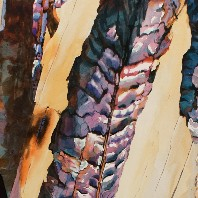 Portion of a Suze Woolf painting