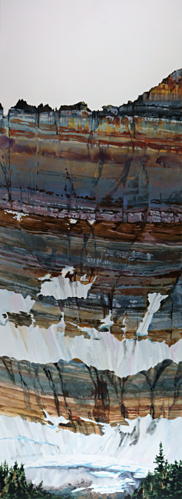Suze Woolf painting of Iceberg Lake