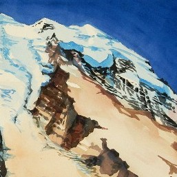 View from Third Burroughs cropped is a portion of a Suze Woolf watercolor painting.