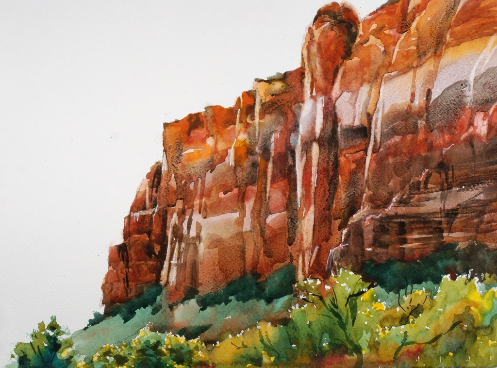Suze Woolf Zion watercolor painting